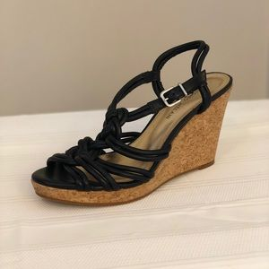 Antonio Melani black rope wedges